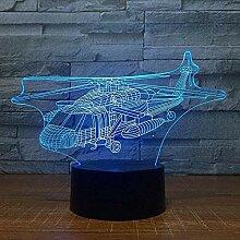 Helikopter 3D Nachtlicht Optische Täuschung Lampe