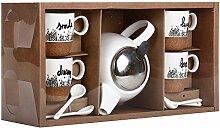 Helio Ferretti Hf Tee-Set, Keramik, Metall und