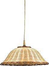 Helios Leuchten 202072 Pendelleuchte Korbleuchte Korb natur-farbig Korblampe Pendellampe Landhausstil 1 X E27 geeignet für LED Lampen