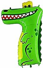 Helium-Ballon Tierische Zahl 7 Krokodil