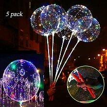 Helium Ballons,5 Stück LED Helium Balloon Gas