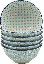 Hellblau Design Müslischüssel - 153 mm - 6er-Se