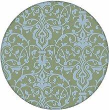 Hellblau grüne, dezent üppige Tapete mit klassischem Damast Muster angepasst an Farrow and Ball Wandfarben - Vliestapete Ornamente - exklusive Wanddeko - GMM Design Tapete - Wandtapete - Wand Dekoration für edle Wohnakzente (Höhe 2,6m Breite 46,5cm)