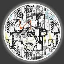 HELLE BILD-SELTSAME BRIEFE GLT6694 PINTDECOR
