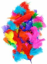 Helle Bunte Federn Easter Bonnet Ideal für Kunst Dekoration