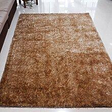 Helle Seidenfaden Linie Braun Teppich Wohnzimmer Couchtisch Nachtdecke 120 * 170 cm Einfache moderne Umwelthautfreundlich ( farbe : Beige )