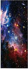 Heller Sternenhimmel Türaufkleber Türwandplakate