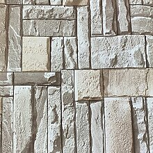 Hellgraue nordische Ziegelsteintapete Nachahmung
