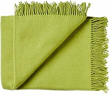 Hellgrüne Wolldecke aus 100% neuseeländischer