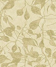 Hellgrüner Parent mit goldfarbenen Blättern