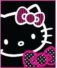 Hello Kitty 'Black Outline' Printed Fleece