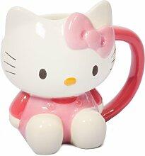 Hello Kitty 3D-Becher-Neuheit Becher - Weiß Rosa