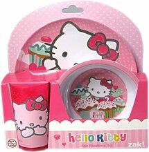 Hello kitty-Cupcake-Becher, Schale und Teller