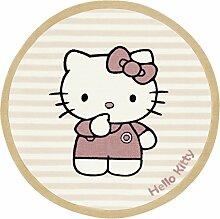Hello Kitty HK-BC-08 Teppich, 100 cm, rund