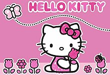 Hello Kitty Kinderteppich 133cm x 95cm Teppich