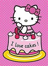 Hello Kitty Kinderteppich 133cm x 95cm Teppich