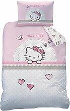 Hello Kitty Kite Bettwäsche-Set, Baumwolle, rosa,