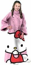 Hello Kitty Pink Youth bequem Überwurf Decke