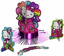 Hello Kitty Rainbow Tisch Dekorieren Kit Geburtstag Party Dekoration (23 Stück), Multi Color, 35,1 x 30 cm