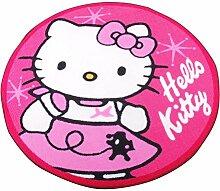 Hello Kitty Teppich rund Durchm. 90cm-Rosa