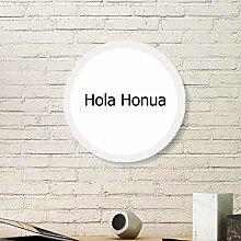 Hello World Hawaiianischer Bilderrahmen aus Holz,