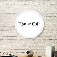 Hello World ukrainischer Bilderrahmen aus Holz,