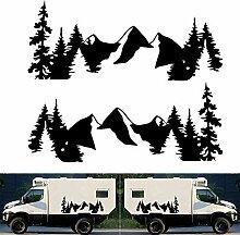 HELLOGIRL 2PCS Wohnmobil Caravan Travel Camper