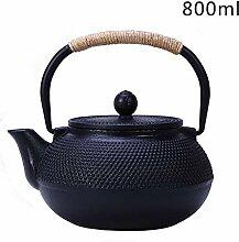 HELLOO HOME Asiatische Teekanne Gusseisen Mit