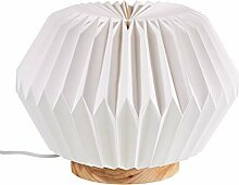 Hellum 578157 LED Papier-Lampe auf Holzbasis /
