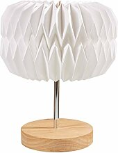 Hellum 578164 LED Papier-Lampe auf Holzbasis /