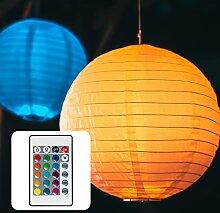 Hellum LED Lampion Lichterkette außen, bunte LED