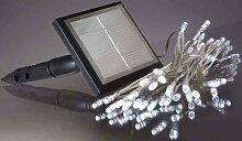 Hellum Solar-LED-Lichterkette, 9,9 m, LED weiß, 50-teilig 540215
