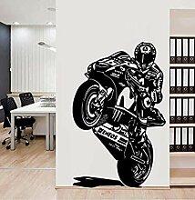 Helm Biker Racer Motorrad Wandaufkleber Vinyl