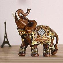 Helunm Figur Skulpturen Statue Elegante Elefanten