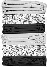 HEMA Bettlaken - 200 X 255 - Baumwolle - Weiß Mit