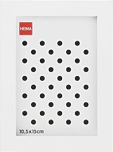 HEMA Bilderrahmen - Holz - Weiß 10 X 15