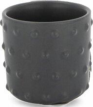 HEMA Blumentopf - Ø 13.5 Cm - Keramik - Grau