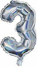 HEMA Folienballon 3 - Silber
