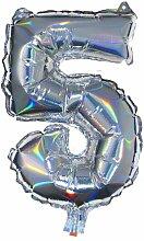 HEMA Folienballon 5 - Silber