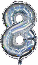 HEMA Folienballon 8 - Silber