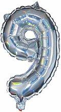 HEMA Folienballon 9 - Silber