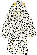 HEMA Kinder-Bademantel Leopard Eierschalenfarben
