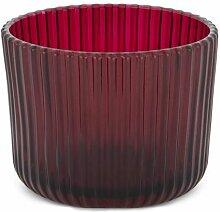 HEMA Teelichthalter - Ø 7 Cm - Relief - Rot