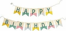 HEMA Wimpelkette Happy Birthday - Holz