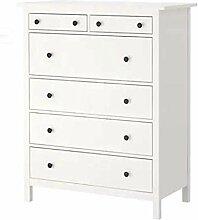 HEMNES IKEA Kommode mit 6 Schubladen; in weiß;
