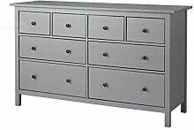 HEMNES IKEA Kommode mit 8 Schubladen; grau