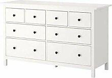 HEMNES IKEA Kommode mit 8 Schubladen; in weiß;