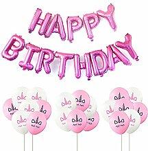 Hemore Happy Birthday Golden Alphabet Luftballons,
