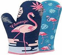 HEMOTON 1 Paar Flamingo Patern Ofenhandschuhe