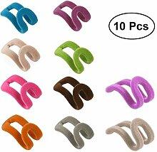 Hemoton 10 Stück Mini Kaskadenhaken Kleiderbügel